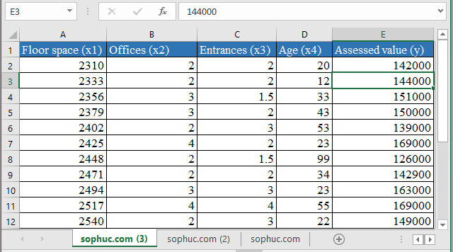 LINEST Function 3 - How to use LINEST Function in Excel