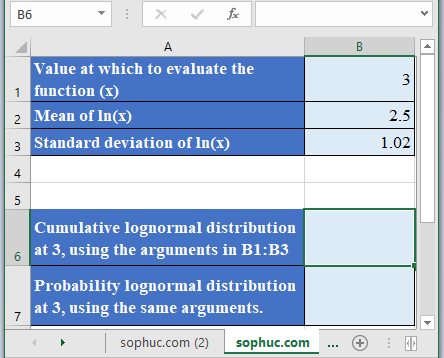 LOGNORM.DIST Function - How to use LOGNORM.DIST Function in Excel