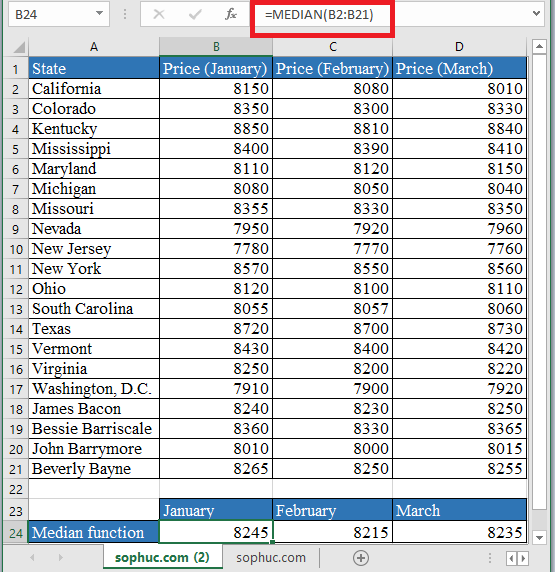 MEDIAN Function - How to use MEDIAN Function in Excel