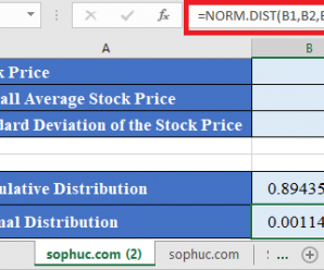 How to use NORM.DIST Function in Excel
