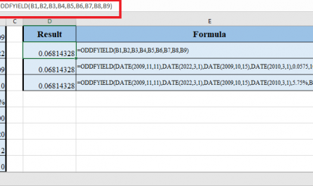 ODDFYIELD Function in Excel 445x265 - How to use ODDFYIELD Function in Excel