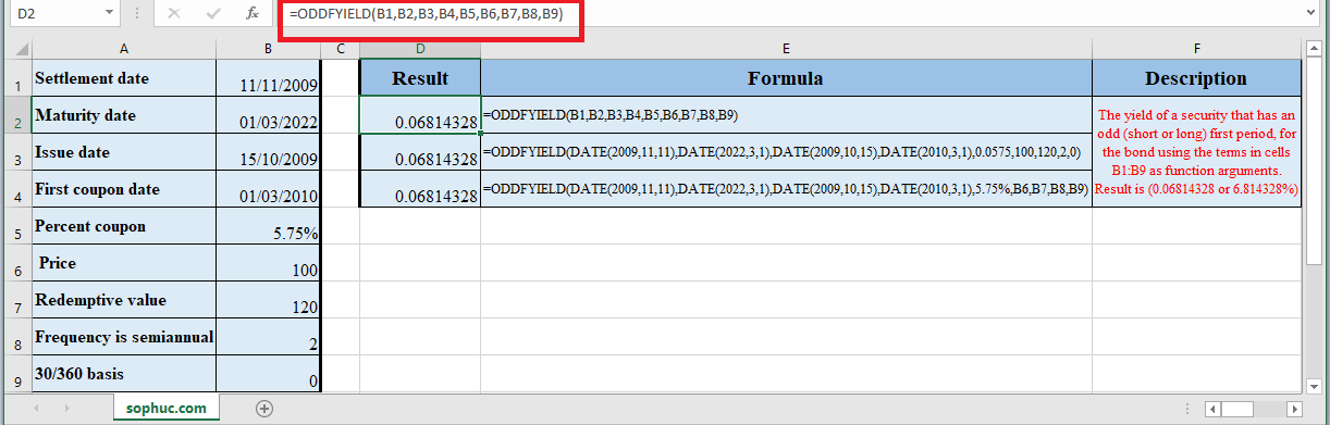 How to use ODDFYIELD Function in Excel