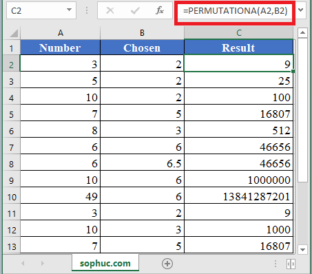 PERMUTATIONA Function in Excel 1 - How to use PERMUTATIONA Function in Excel