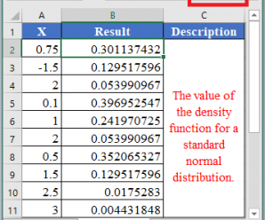 How to use PHI Function in Excel