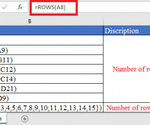 How to use ROWS Function in Excel
