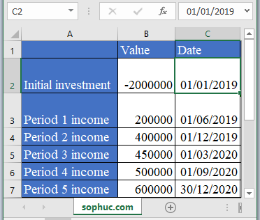 XIRR Function - How to use XIRR Function in Excel