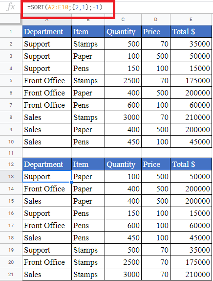 Excel SORT Function - How to use SORT Function in Excel