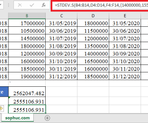 How to use STDEV.S Function in Excel