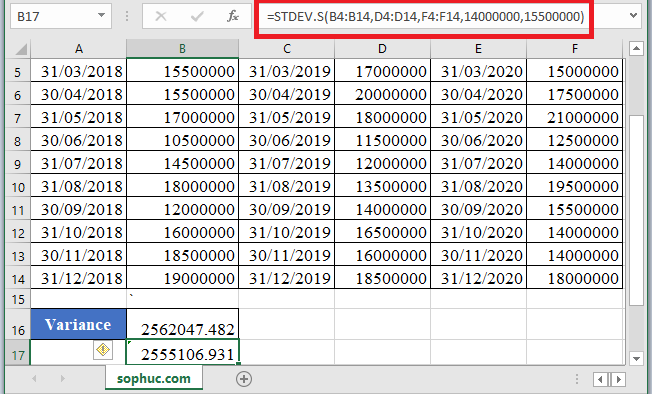 STDEV.S Function - How to use STDEV.S Function in Excel