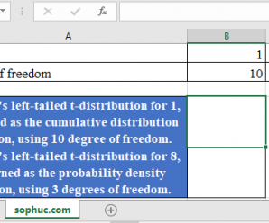 How to use T.DIST Function in Excel