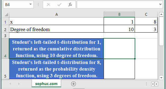 T.DIST Function - How to use T.DIST Function in Excel