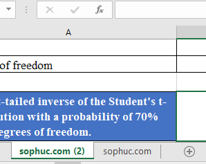 How to use T.INV Function in Excel