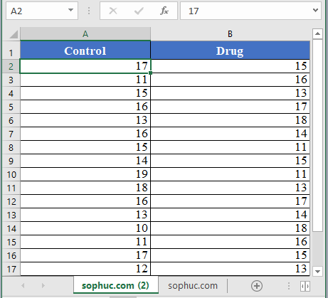 T.TEST Function 4 - How to use T.TEST Function in Excel