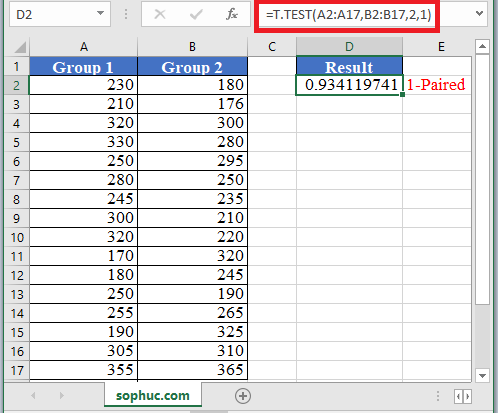 T.TEST Function in Excel - How to use T.TEST Function in Excel
