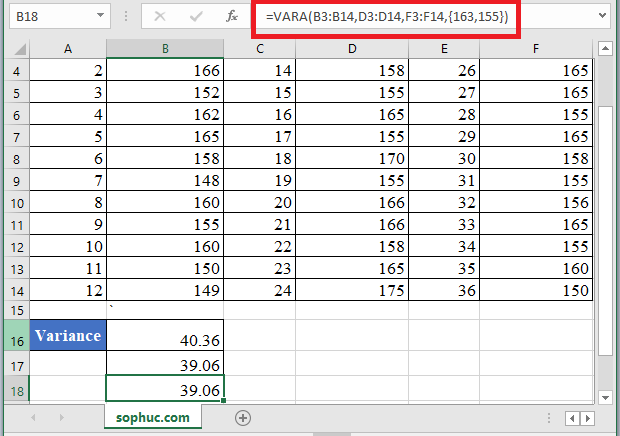VARA Function 2 - How to use VARA Function in Excel