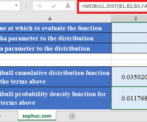 How to use WEIBULL.DIST Function in Excel