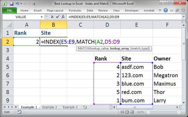 best lookup formula in excel index and match 3373 4 - Best Lookup Formula in Excel - Index and Match