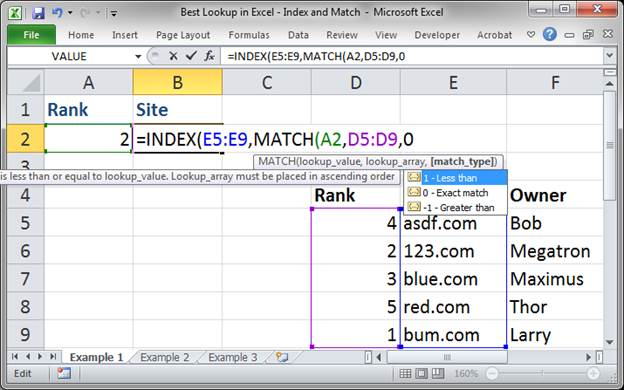 best lookup formula in excel index and match 3373 5 - Best Lookup Formula in Excel - Index and Match