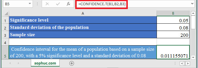 CONFIDENCE.T Function in Excel - How to use CONFIDENCE.T Function in Excel