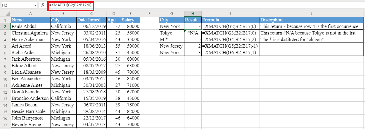 XMATCH Function 1 - How to use XMATCH Function in Excel