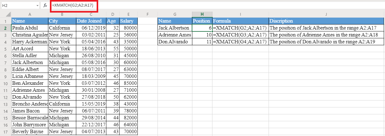 XMATCH Function in Excel - How to use XMATCH Function in Excel