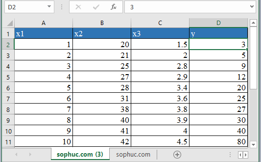 LOGEST Function 1 - How to use LOGEST Function in Excel