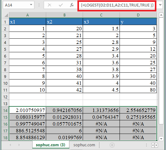 LOGEST Function - How to use LOGEST Function in Excel