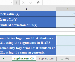 How to use LOGNORM.DIST Function in Excel