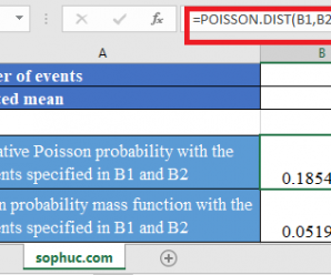 How to use POISSON.DIST Function in Excel