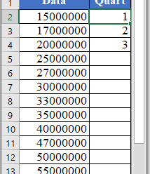 How to use QUARTILE.EXC Function in Excel