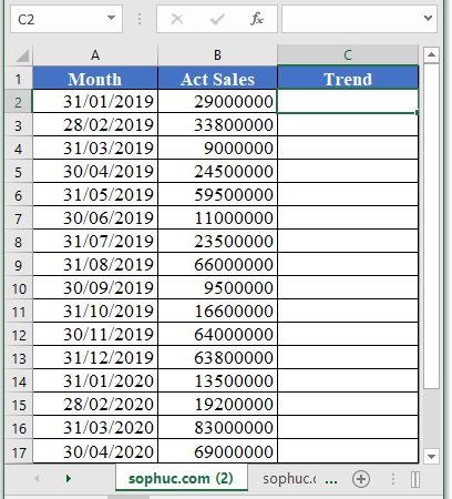 TREND Function - How to use TREND Function in Excel